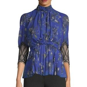 Camilla and Marc Stanwyck Blouse in Electric Blue